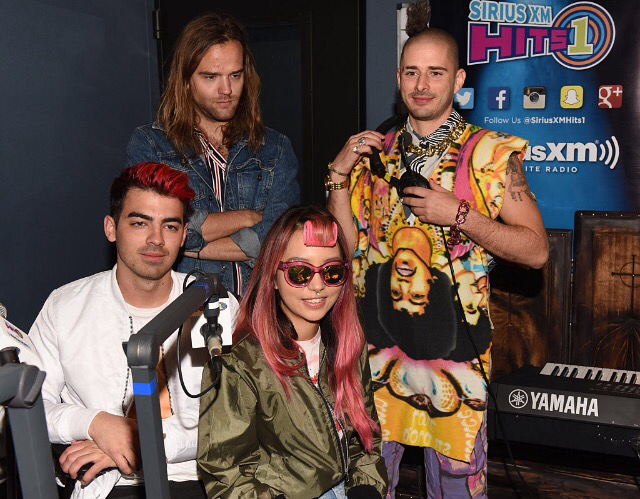 New Photos: DNCE At Sirius XM's Studio