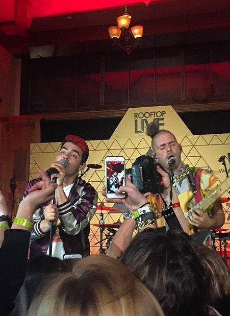 DNCE Performing At Roof Top Live