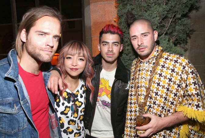 New Photos: DNCE Attend Toast To Young Hollywood