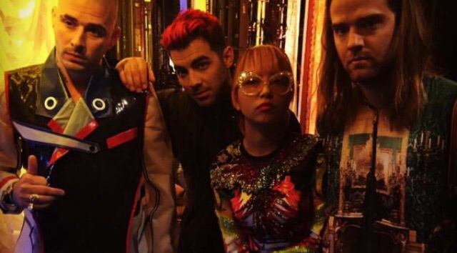 DNCE backstage at Good Morning America
