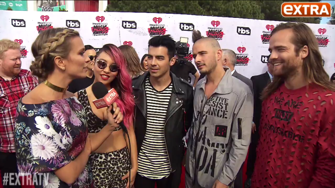 DNCE's Interview With Extra TV At The iHeartRadio Music Awards