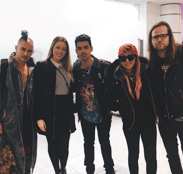 DNCE at the Montreal Airport