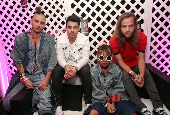 DNCE Attends NYLON's Midnight Garden Party