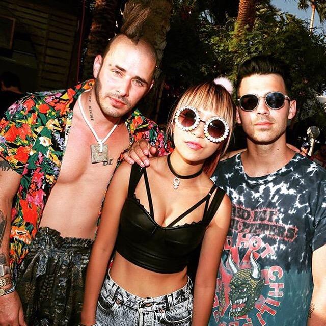 DNCE Attends Coachella