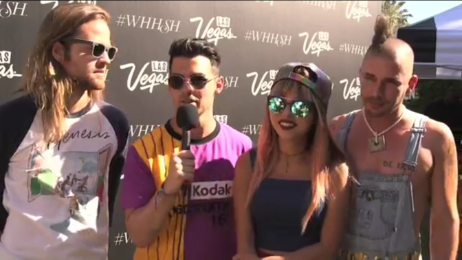 DNCE Interview at #WHHSH Pool Party