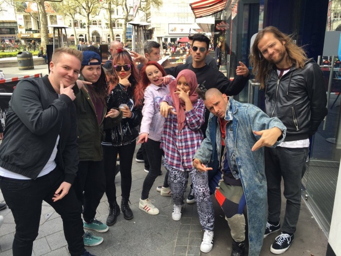 DNCE Meeting Fans in London