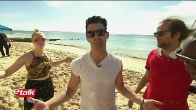 DNCE Playing Beach Volleyball