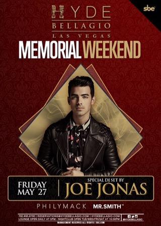 Joe Jonas to DJ at Hyde Bellagio