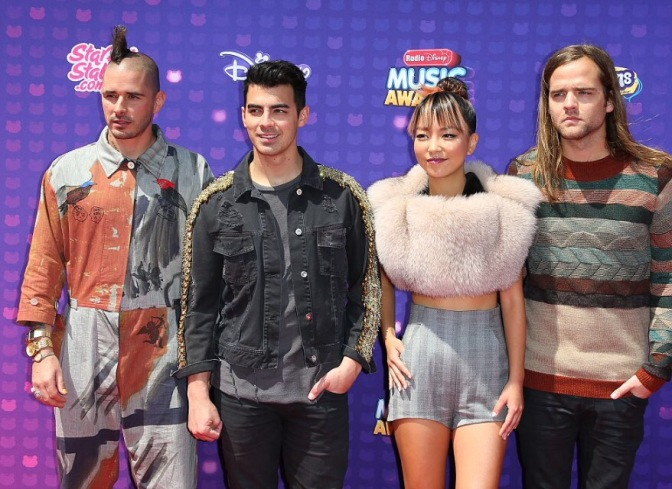 DNCE on the Red Carpet at the Radio Disney Music Awards