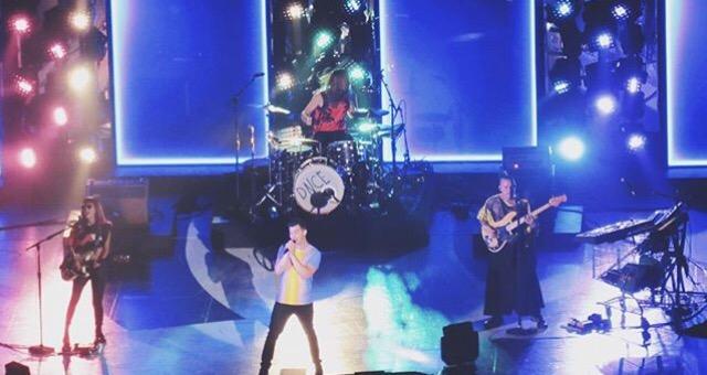 DNCE performing in Sacramento, CA