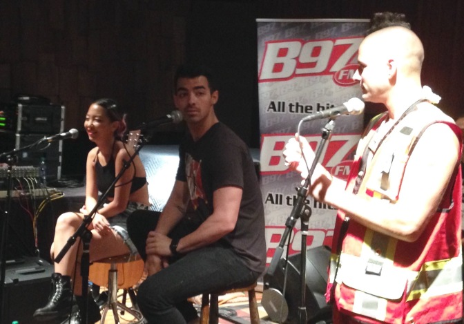 DNCE at B97 Studios in New Orleans