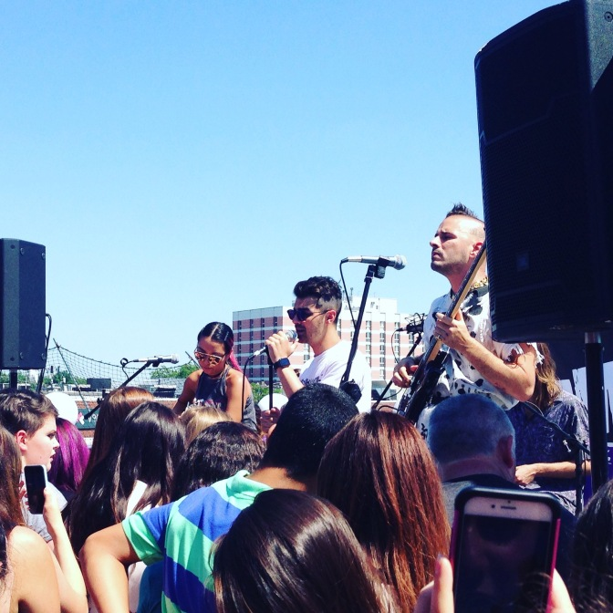 DNCE Performing at 98.7 Amp Radio's Rooftop Party