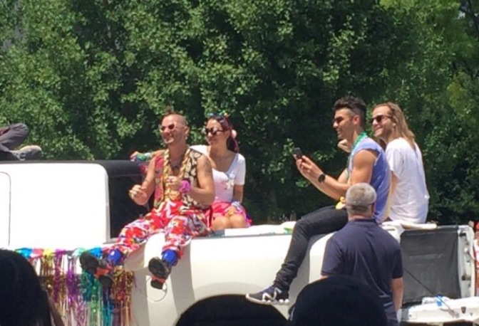 DNCE at the St. Louis Pride Parade