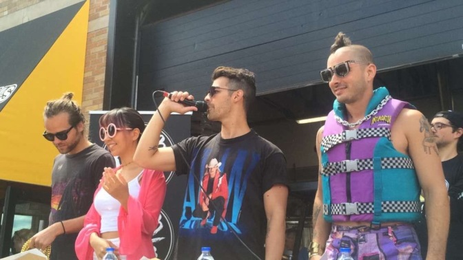 DNCE at The World's Largest Cake Fight