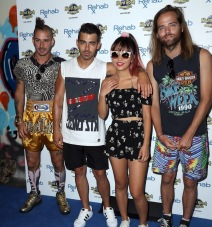 DNCE takes over REHAB Beach Club at Hard Rock Hotel & Casino Featuring: DNCE, Joe Jonas, Jack Lawless, Cole Whittle, JinJoo Lee Where: Las Vegas, Nevada, United States When: 24 Jul 2016 Credit: Judy Eddy/WENN.com