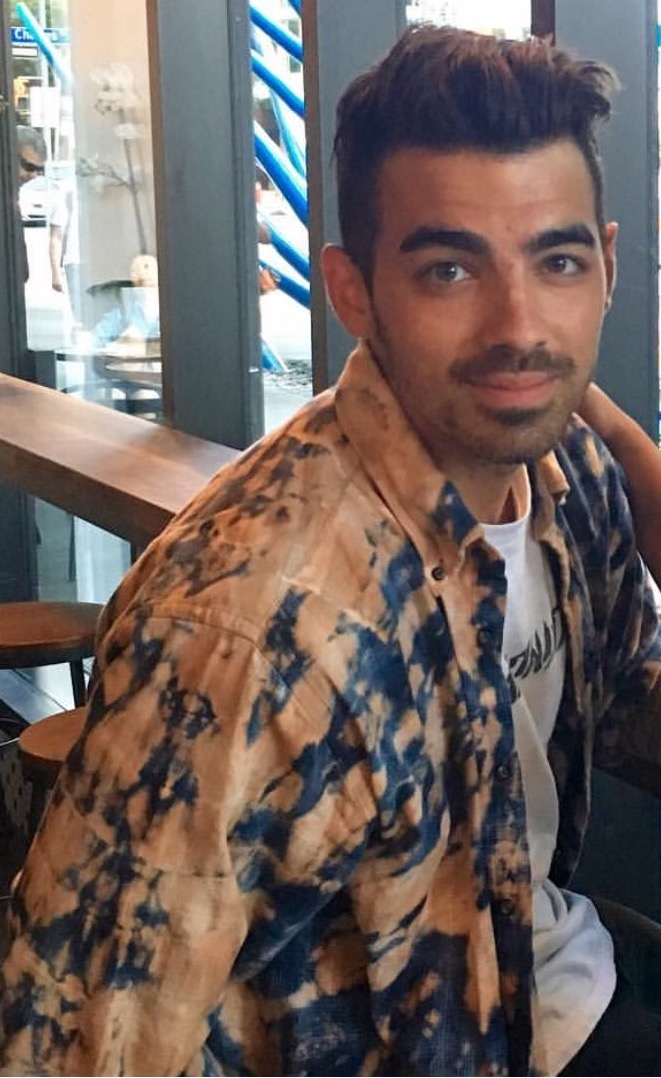 Joe Jonas at Rooster Coffee House