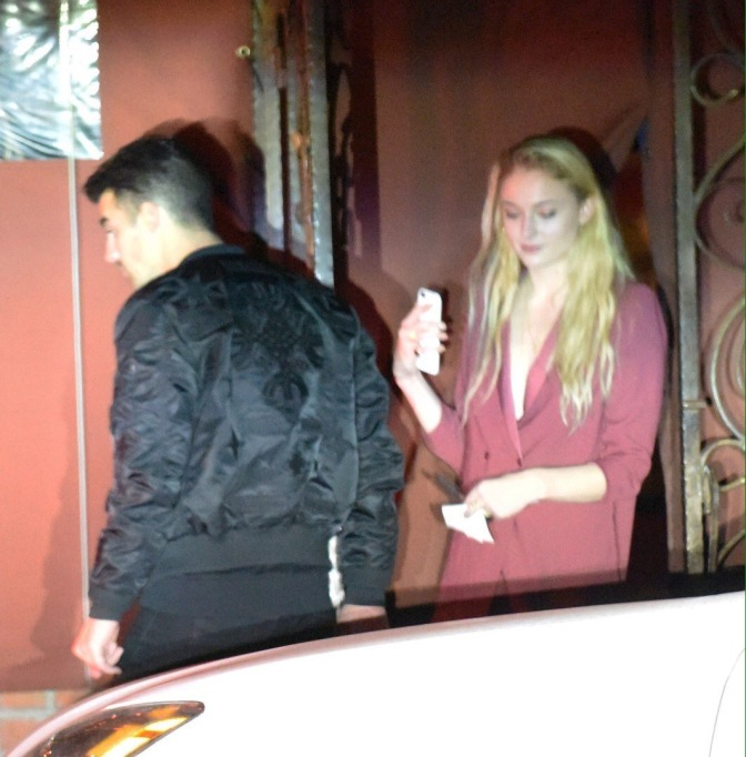 Joe Jonas and Sophie Turner out to Dinner in Los Angeles