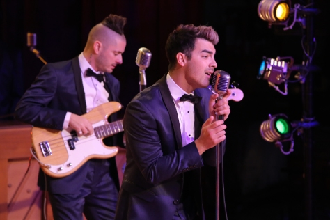 GREASE: LIVE: (L-R) Cole Whittle and Joe Jonas of DNCE rehearse for GREASE: LIVE airing LIVE Sunday, Jan. 31, 2016 (7:00-10:00 PM ET live/PT tape-delayed), on FOX. © 2016 Fox Broadcasting CO. Cr: Kevin Estrada/FOX