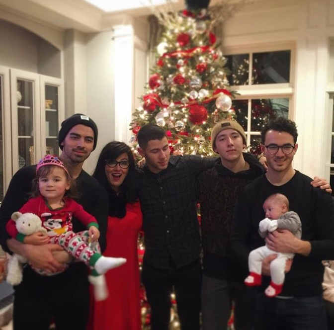 Joe Jonas Celebrating Christmas