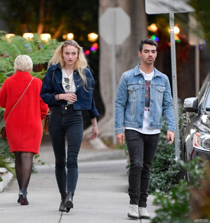 Joe Jonas Leaving a Recording Studio in Beverly Hills