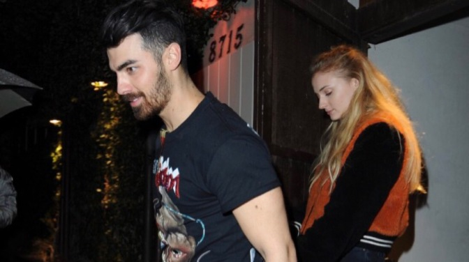 Joe Jonas and Sophie Turner Leaving the Peppermint Club in LA