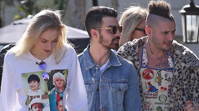 DNCE and Sophie Turner Around Los Angeles