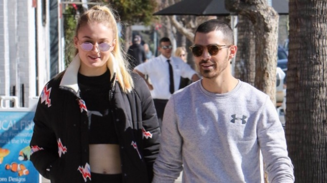 Joe Jonas and Sophie Turner out in Studio City