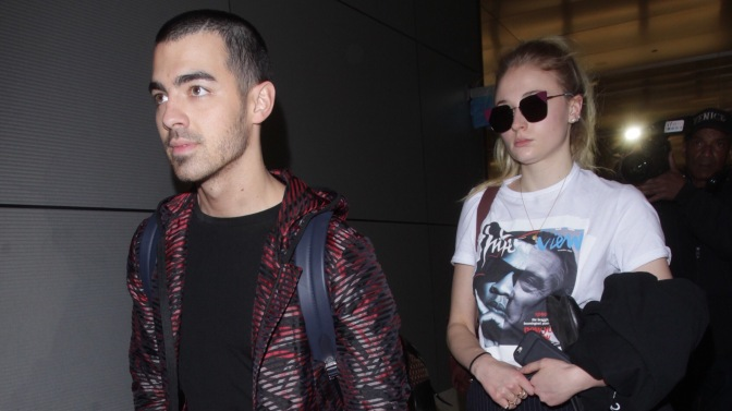 Joe Jonas and Sophie Turner at LAX