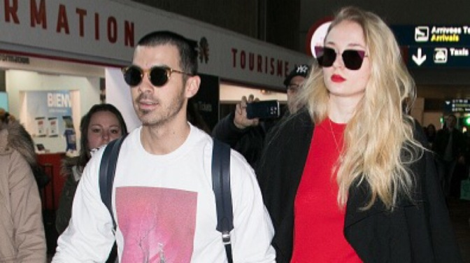 Joe Jonas and Sophie Turner Arrive at Paris Airport