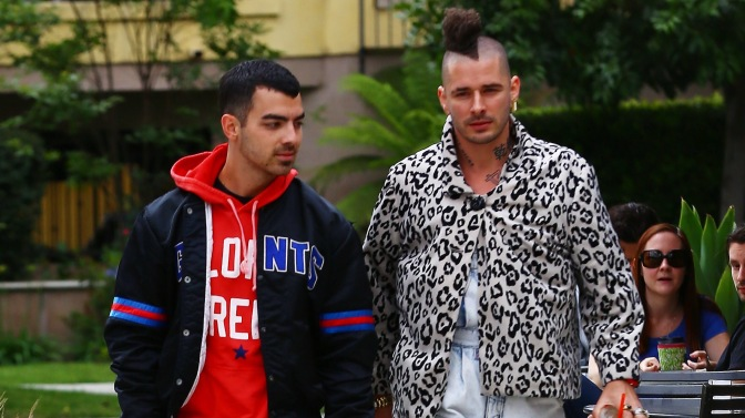 Joe Jonas and ColeWhittle, Out in Studio City