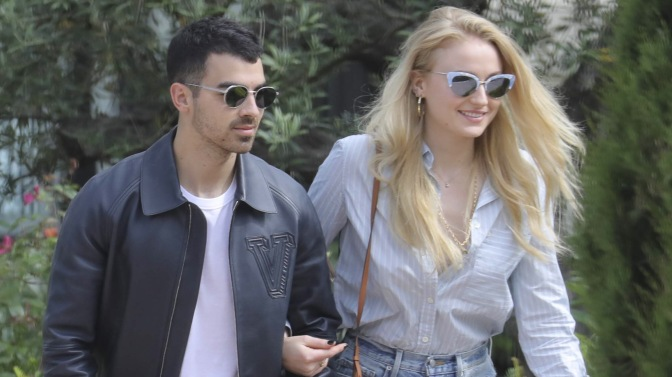 Joe Jonas and Sophie Turner in Cannes, France