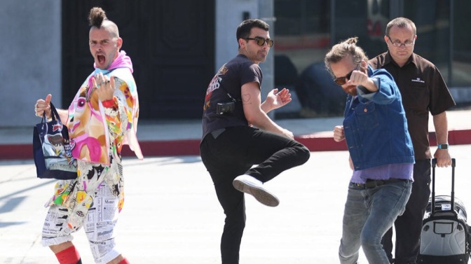 DNCE out in Los Angeles