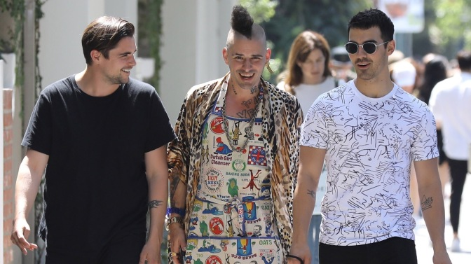 Joe Jonas and Cole Whittle out in Los Angeles