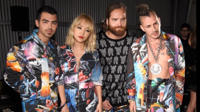 DNCE Attend Moschino Spring/Summer Fashion Show