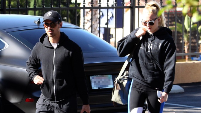 Joe Jonas and Sophie Turner at the Gym in West Hollywood