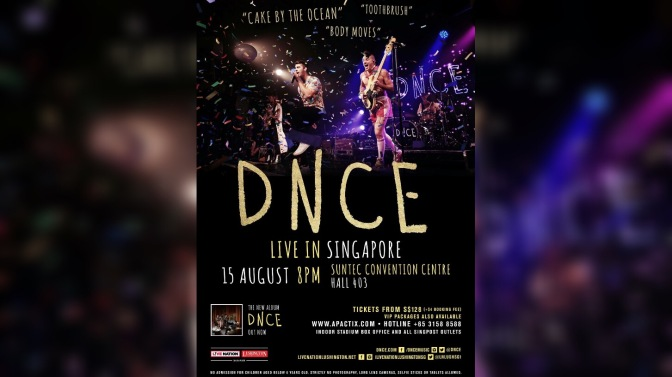DNCE to Perform in Singapore!