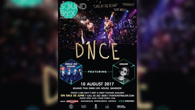 DNCE to Perform in Bangkok!