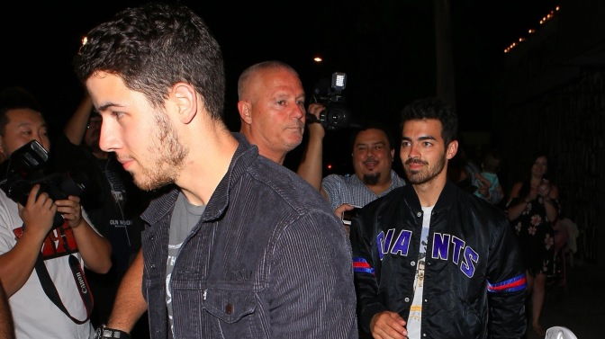 Joe and Nick Jonas Spotted at Craig's Restaurant