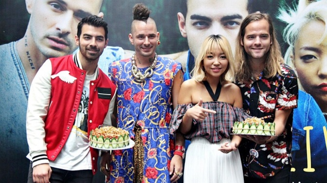 DNCE Attend Press Conference in Malaysia