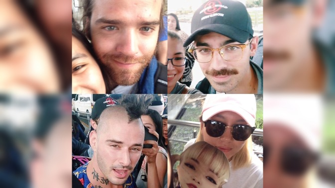 DNCE at the Airport in Manila