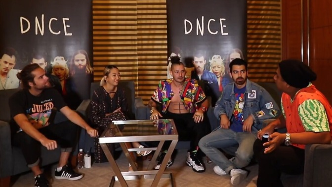 Watch Now: DNCE Interviewed by Dee Kosh in Singapore