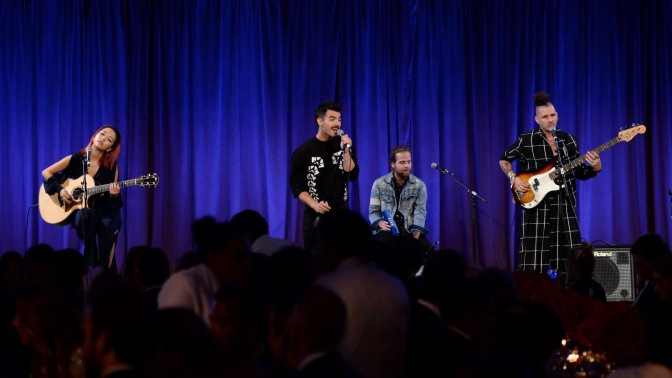 DNCE Perform at The World Childhood Foundation Thank You Gala in New York