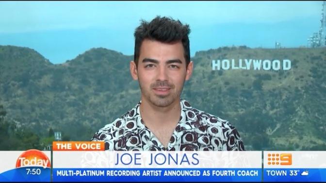 """Joe Jonas on the """"Today Show"""" in Australia!"""
