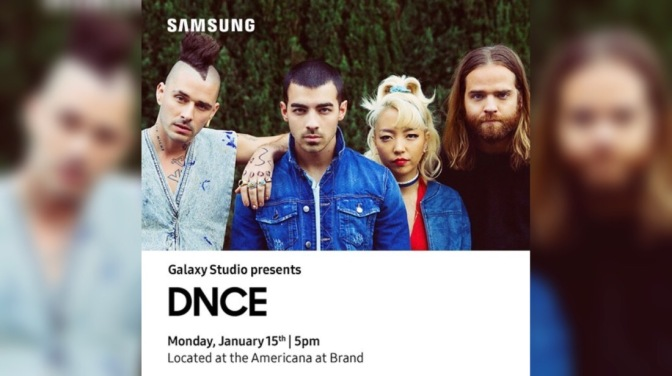 DNCE To Perform at the Galaxy Studio at The Americana At Brand