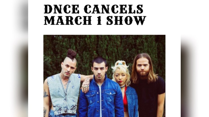 DNCE Performance At Strawberry Festival – Cancelled