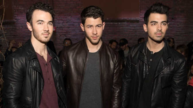 Joe Jonas Attends John Varagas Fall/Winter 2018 Fashion Show!