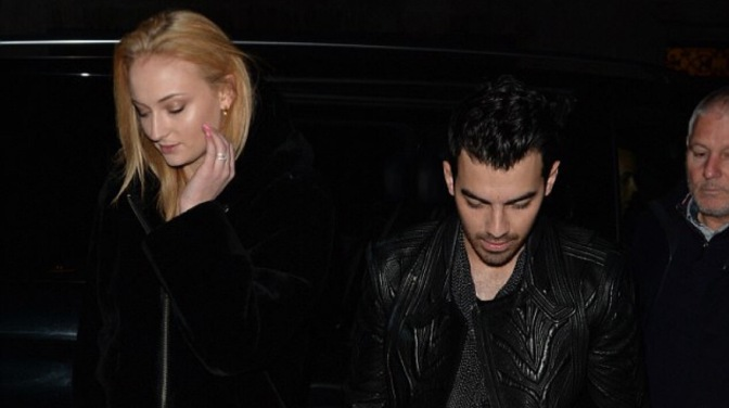 Joe Jonas and Sophie Turner Spotted out to Dinner in London