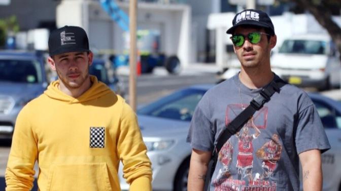 Joe Jonas and Nick Jonas Spotted out in Bondi