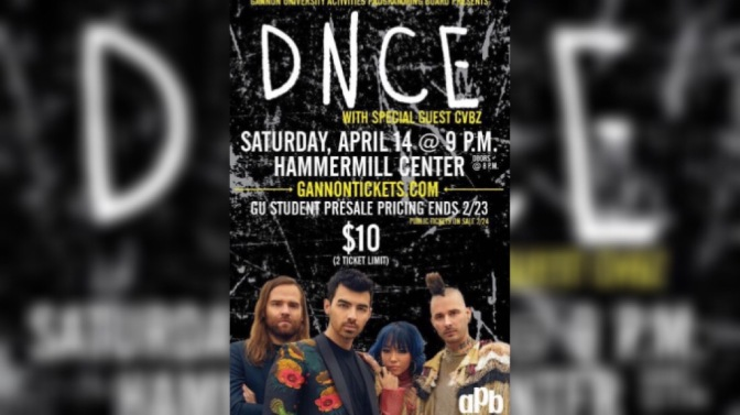 DNCE to Perform at Gannon Univeristy