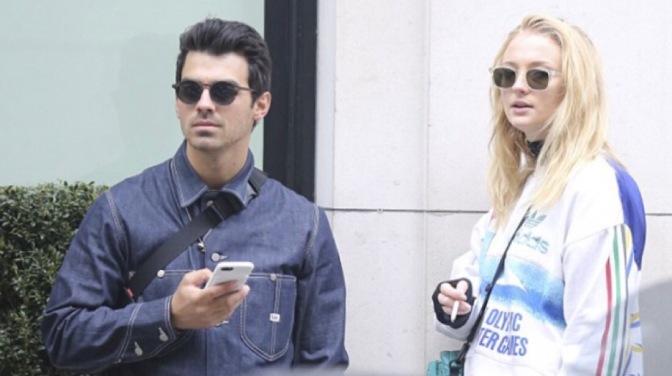 Joe Jonas and Sophie Turner out in Paris
